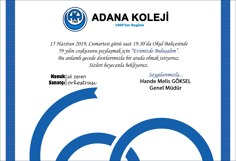 4dcc8832b5c9e Adana Koleji & Eğitimde Yarım Asırlık Çınar